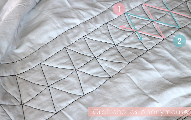 how to quilt - love the geometric design!