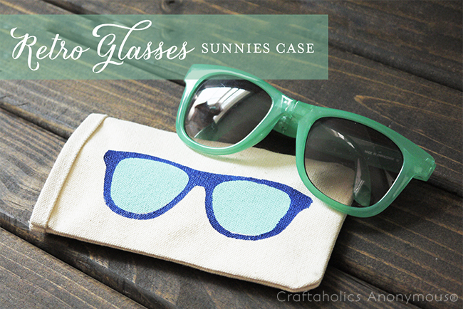 DIY Sunglasses Case Tutorial. Super cute!