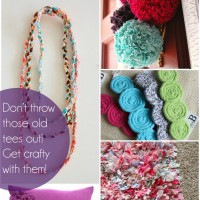24 Ideas for T-Shirt Crafts