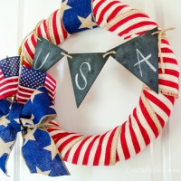 DIY 4th of July Wreath Tutorial