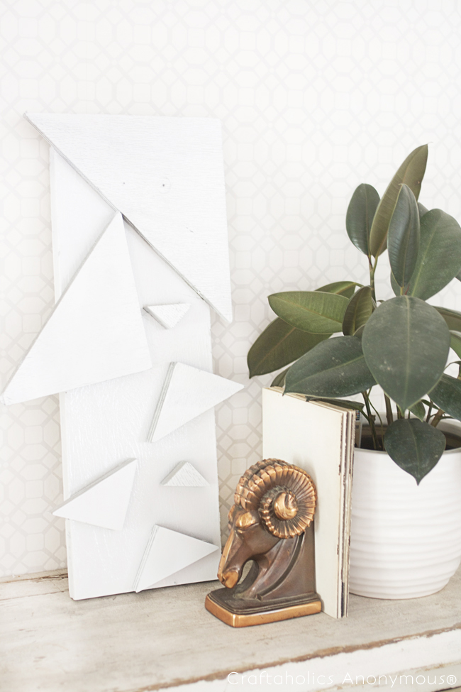 DIY Triangle Wall Art