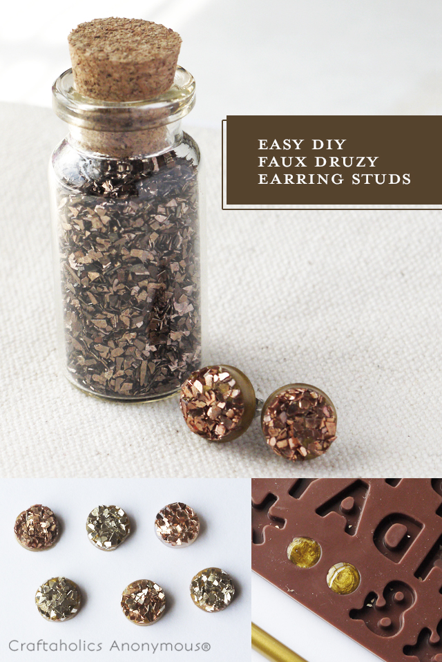 Make your own druzy stud earrings!
