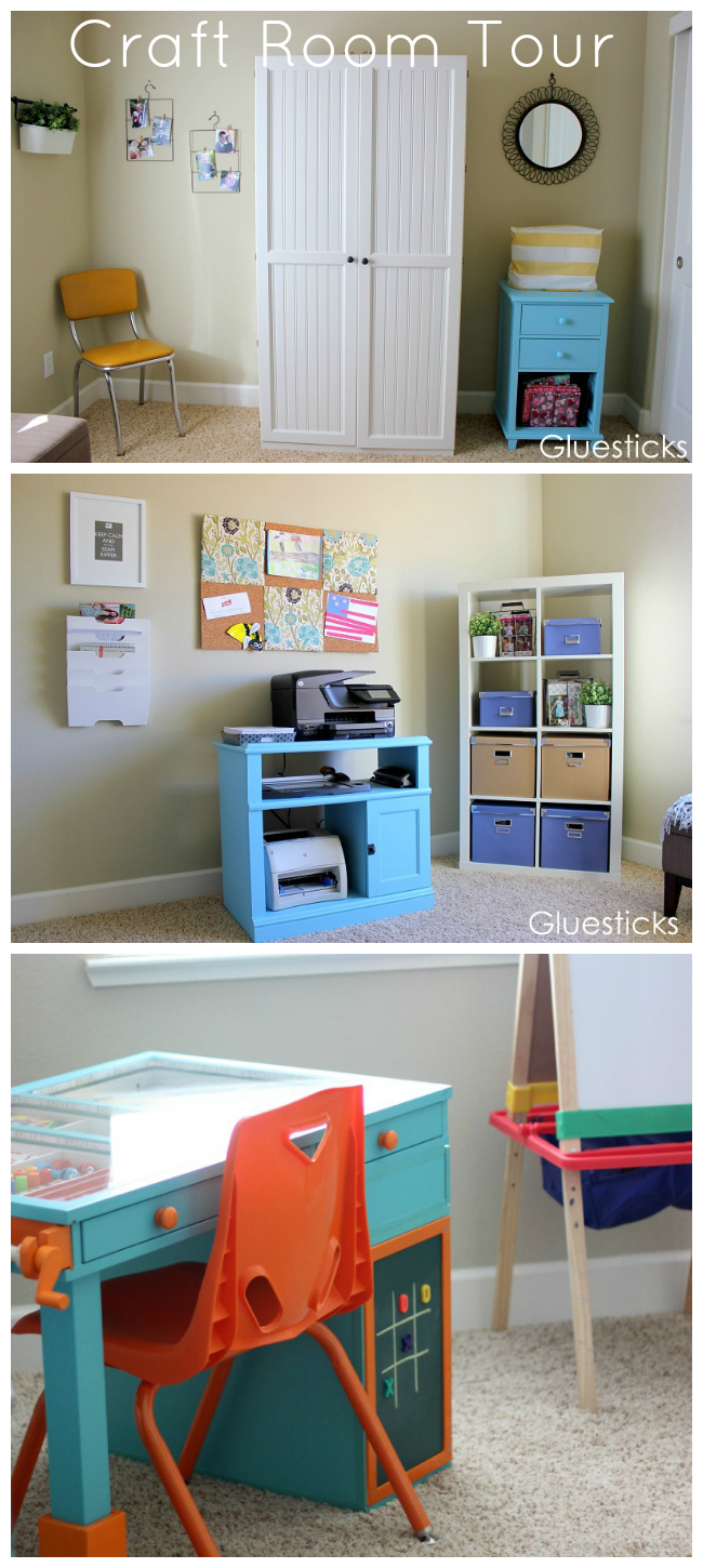gluesticks blog craft room tour