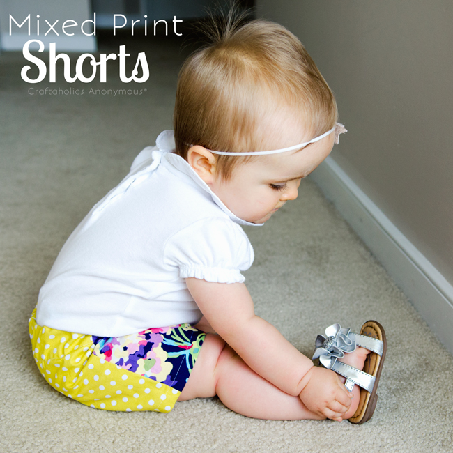 mixed print shorts. so so so cute!