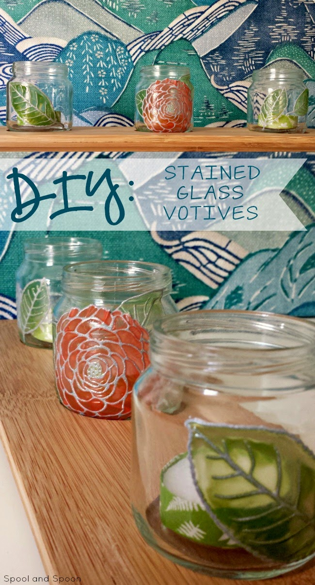 1 DIY Stained Glass Votive