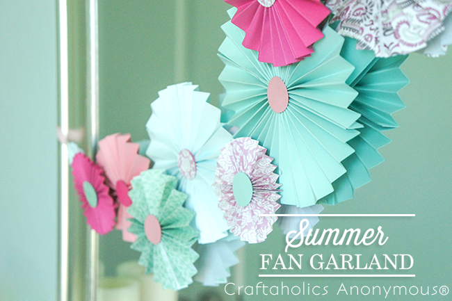 Summer Garland bunting. Love this easy craft idea.