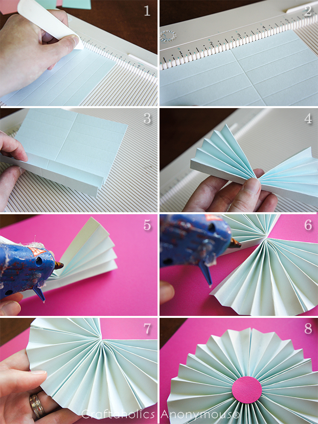 How to make paper rosettes tutorial