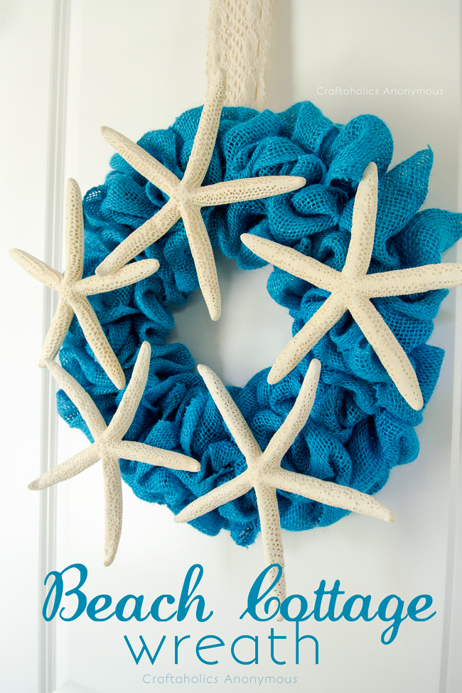 Burlap Summer Wreath. This bubble wreath is the perfect wreath for all skill levels! Easy to make + few supplies