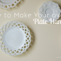DIY Plate Hangers using Household items