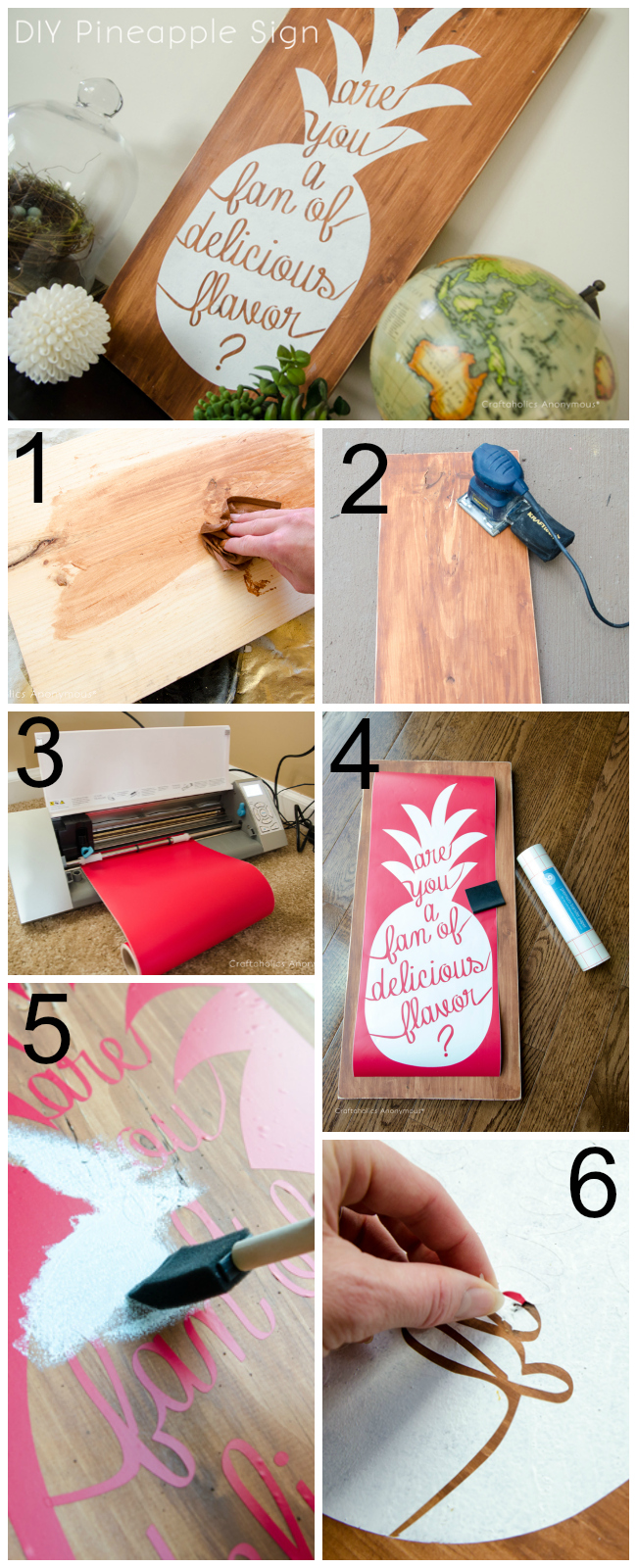 DIY Wood Pineapple Sign tutorial