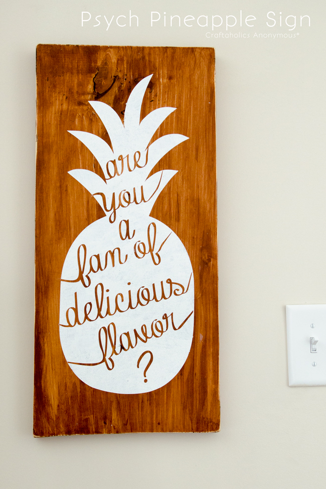 "Psych Pineapple Sign Quote. ""Are you a fan of delicious flavor?"" Shawn Spenser"