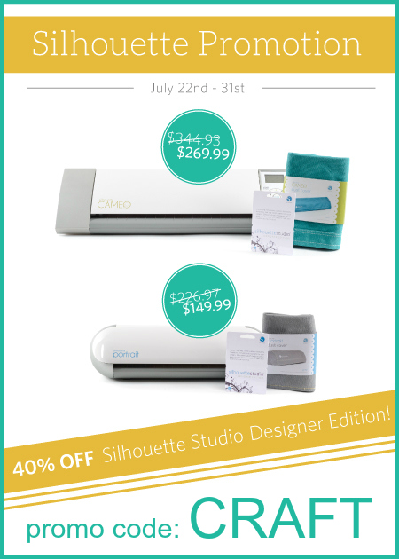 silhouette july promo. use code: CRAFT to save $$