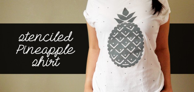 DIY Pineapple shirt tutorial