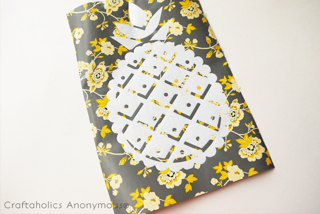 stenciled pineapple shirt