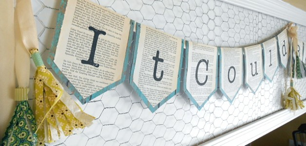 Craftaholics Book Page Garland finished