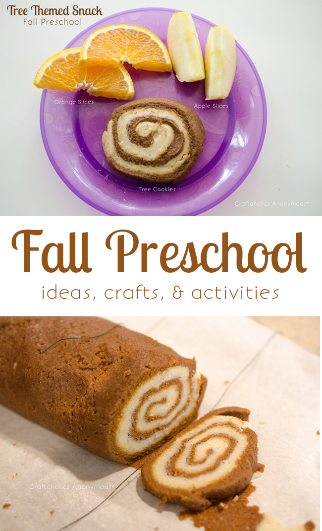 Tree themed snacks for preschool. Such a fun fall themed Preschool!