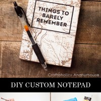 DIY: Custom Notepad