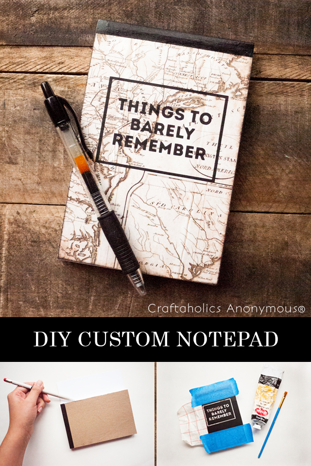 Make your own customized notepad! #backtoschool #notepad #tutorial