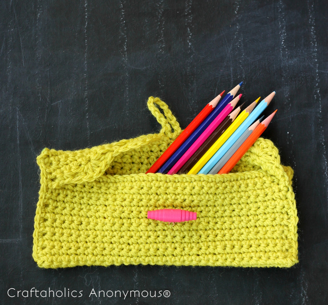 pencil pouch crochet pattern