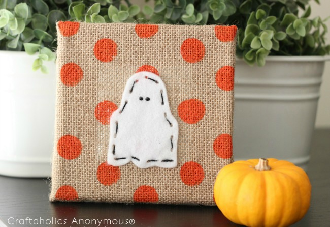 Ghost Halloween craft for kids - easy sewing / lacing. So cute!