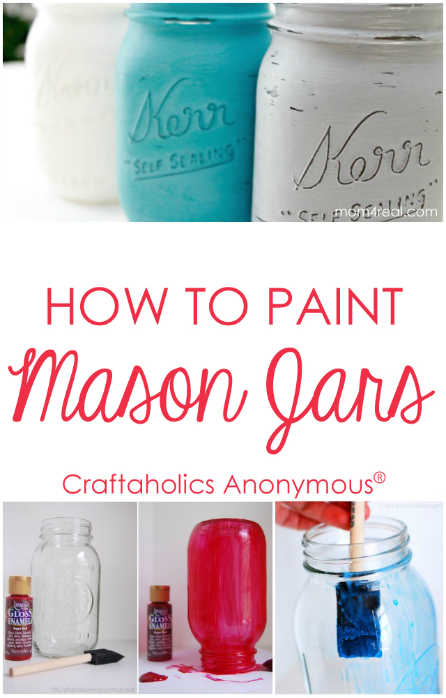 craftaholics anonymous how to paint mason jars tips and