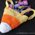 candy corn crochet bag 8