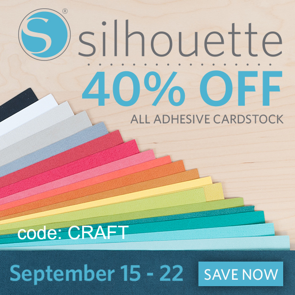 Save 40% off on all Adhesive Cardstock ! This is fun stuff to play