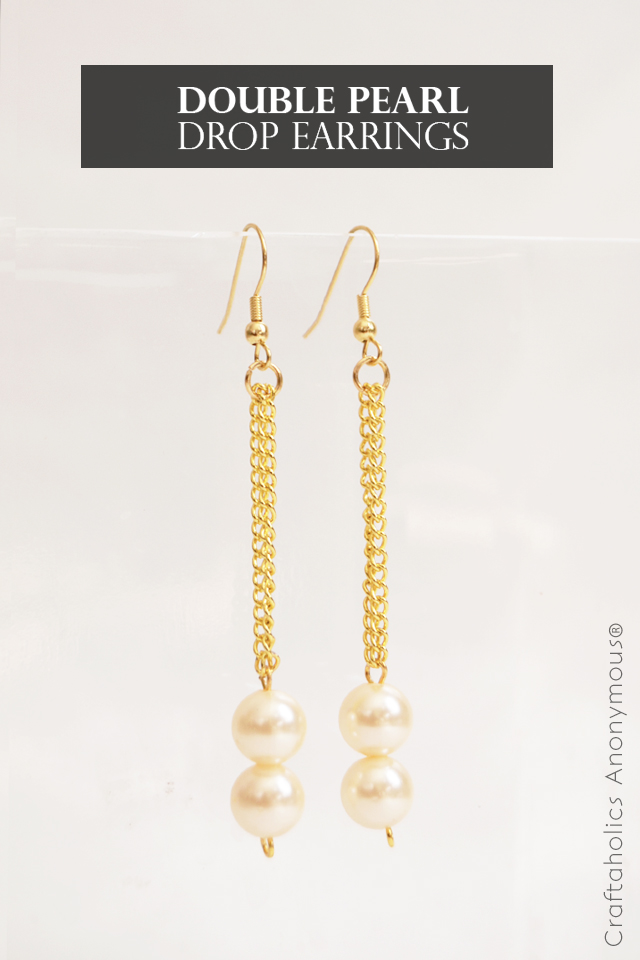 Diy Double Pearl Drop Earrings