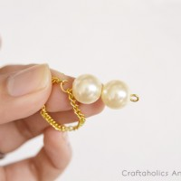 DIY Double Pearl Drop Earrings