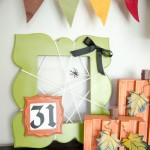 Easy Spider frame. Halloween craft idea