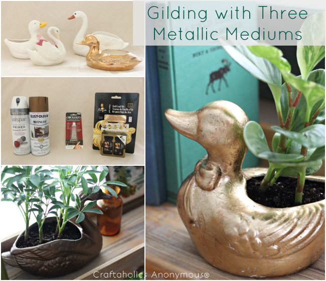 how to gilding. Turn dated duck planters into a sleek, modern gaggle of lovely room accents.