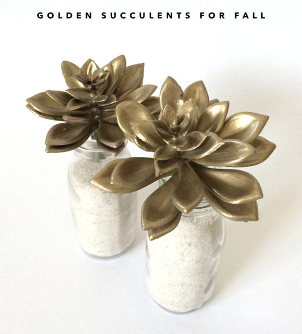 DIY Gold Succulents