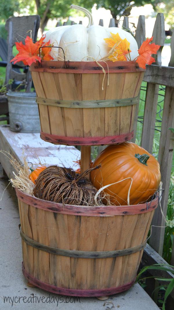 DIY Tiered Bushel Baskets - My Creative Days