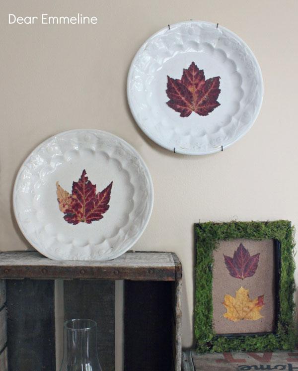 Fall Ironstone Leaf Plates - Dear Emmeline