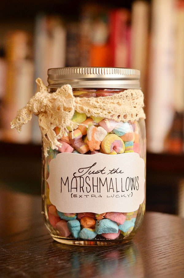 Lucky Marshmallows in a Jar
