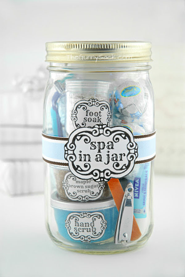 Spa In A Jar The Gunny Sack & Craftaholics Anonymous® | 51 Christmas Gift in a Jar Ideas