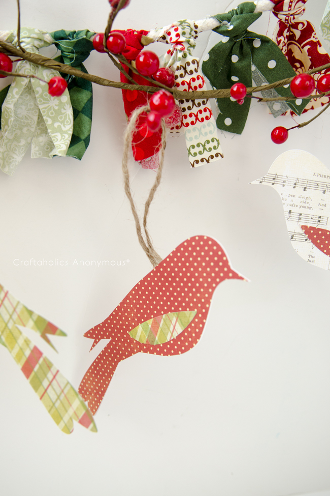 craftaholics anonymous paper bird ornaments gift toppers. Black Bedroom Furniture Sets. Home Design Ideas