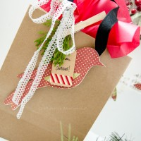 Paper bird ornaments. Makes a great gift topper too!