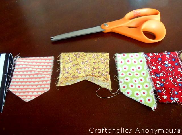 fabric scrap bunting