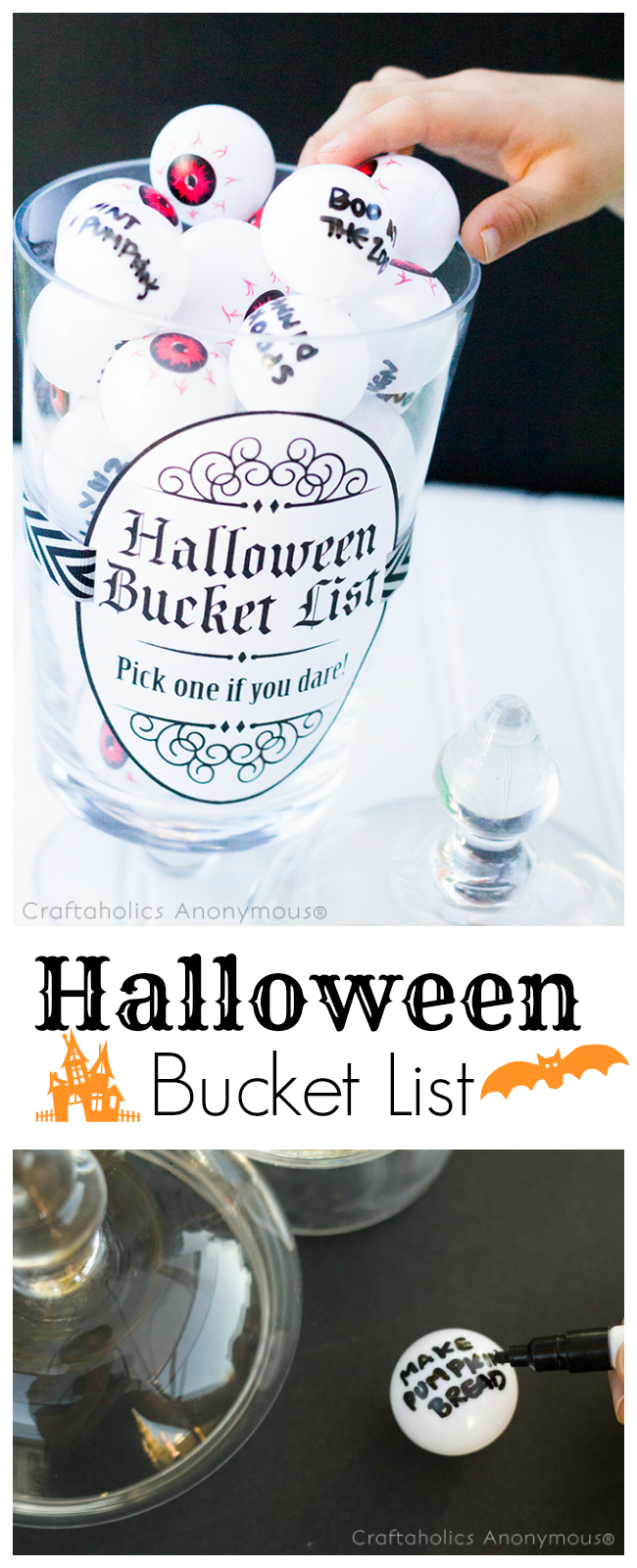 Love this idea! Halloween Bucket list for kids. Great for making fun fall memories!