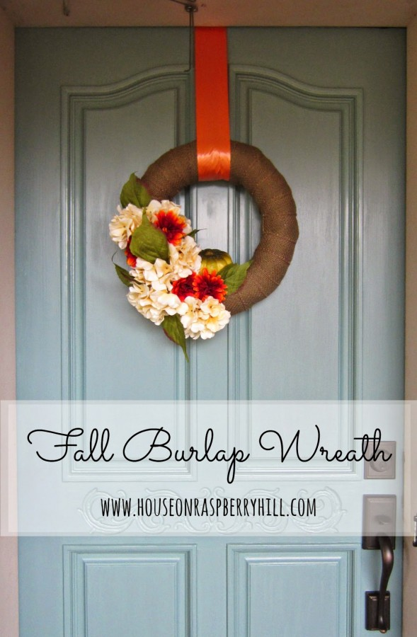 DIY Burlap Fall Wreath