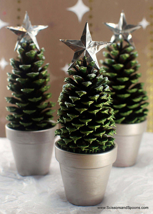 Christmas Pine Cone Crafts Pine Cone Christmas Tree From