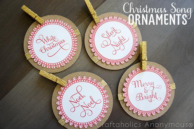 Free Printable Christmas ornaments. Love the Christmas song theme!
