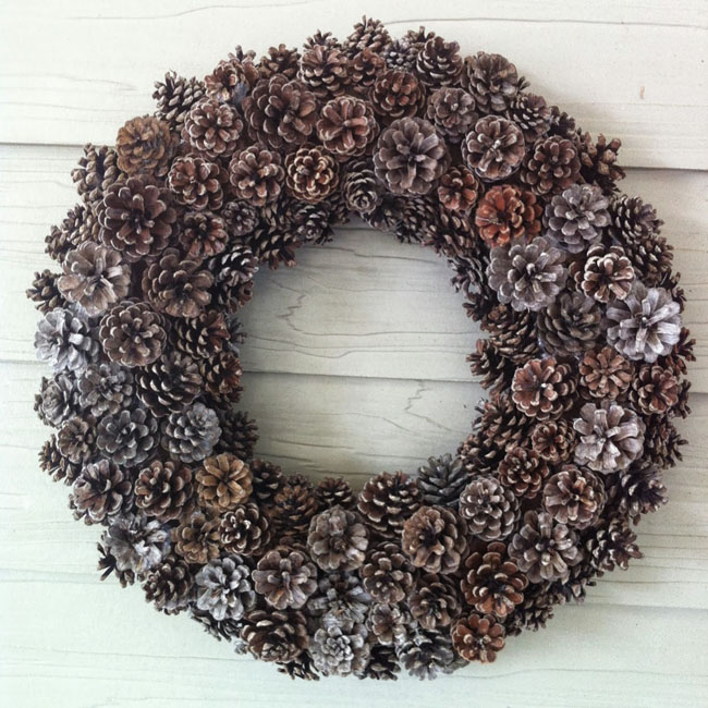 Pine Cone Wreath from Up to Date Interiors