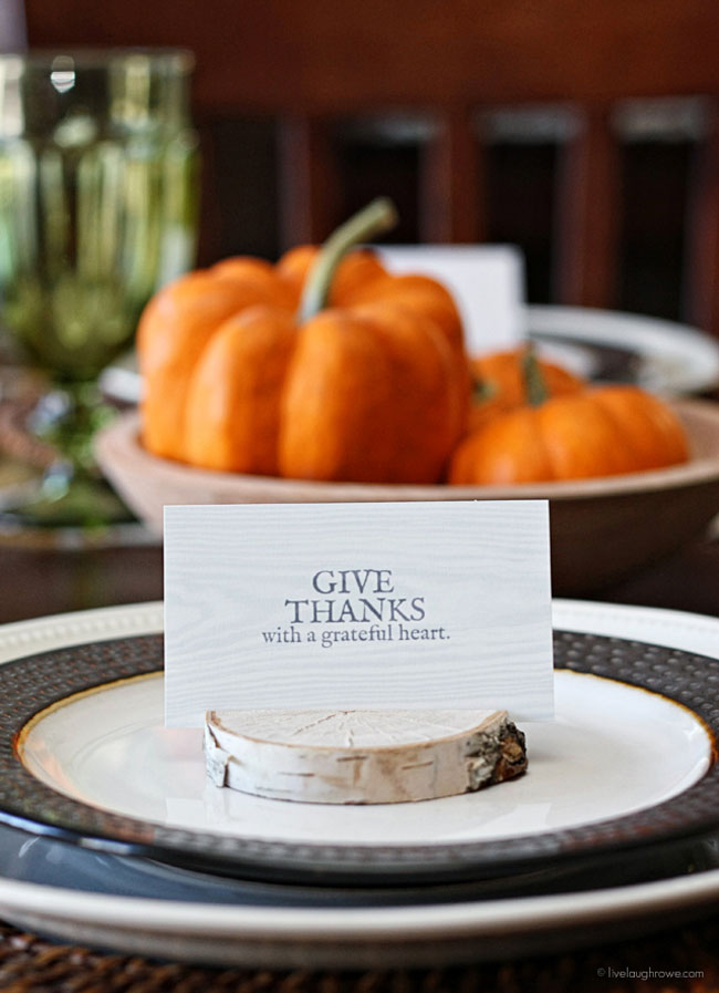 DIY Birch Place Card Holders