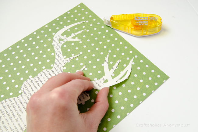book page deer craft