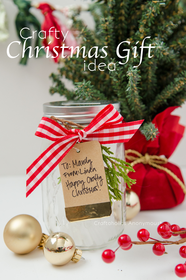 Crafty Christmas Gift idea || Gift in a Jar for a Crafter. Easy to make!