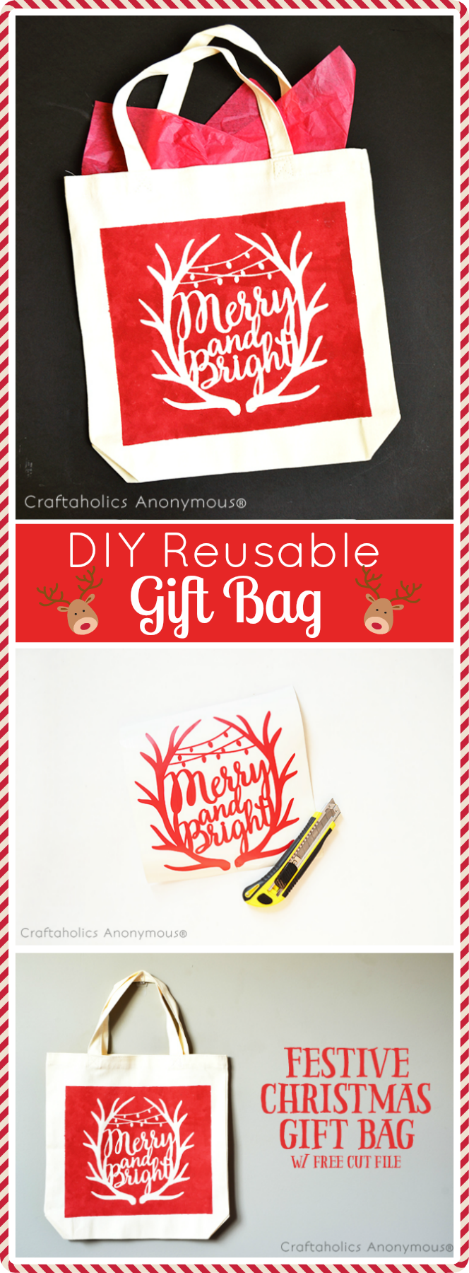 DIY Gift Bag with Printed Glitter Flowers |White Christmas Diy Gift Bags