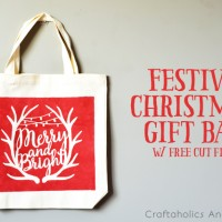 Festive Christmas Gift Bag with Free Cut File