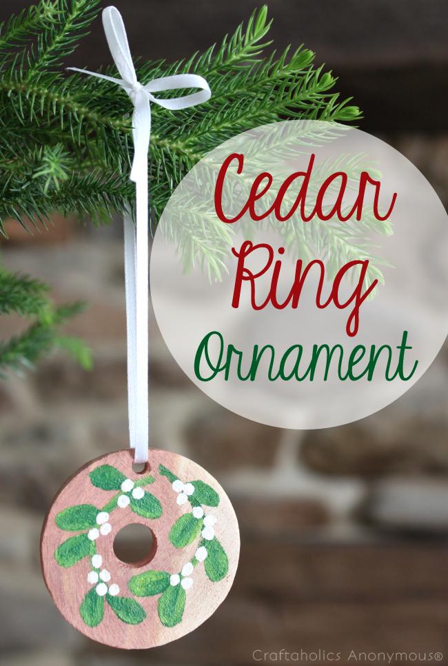 Cedar Ring Ornament DIY